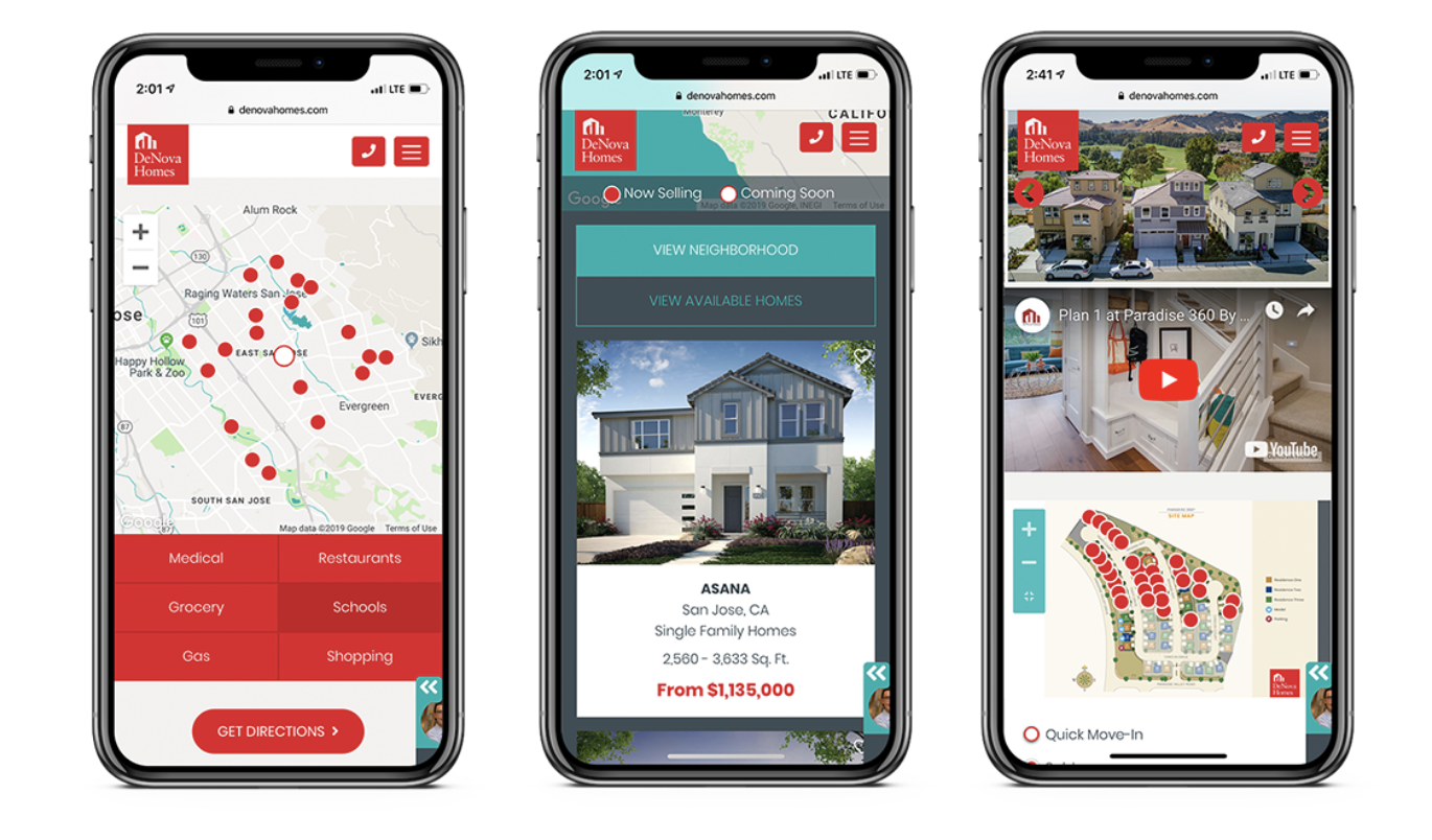 home building company DeNova in California is optimizing its website for mobile use