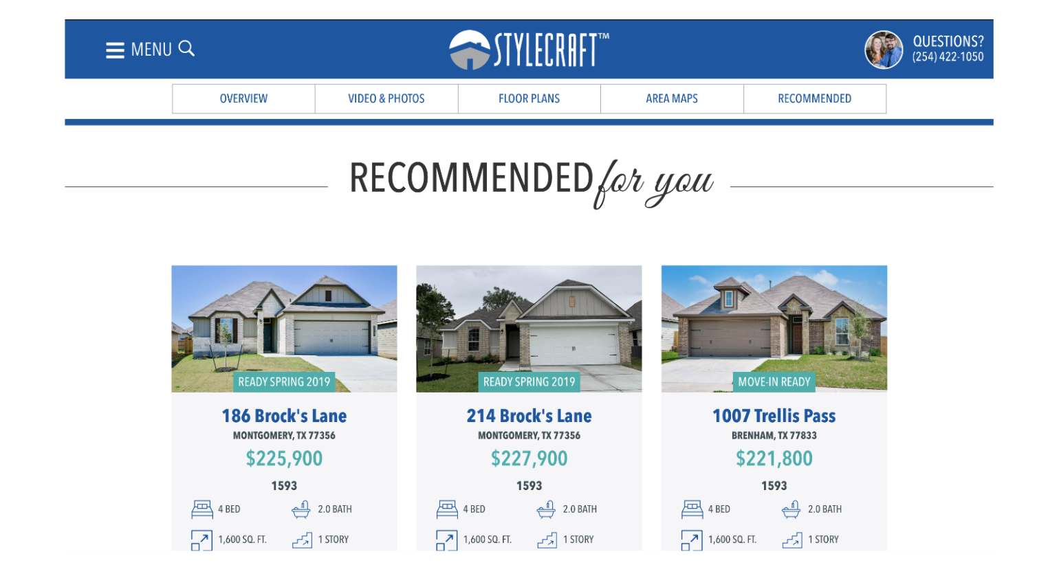 Stylecraft builder website makes personalized recommendations