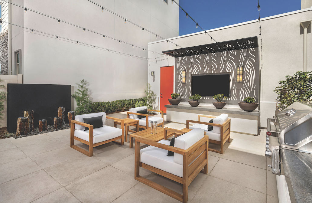 2019 professional builder design awards details outdoor living fireplace