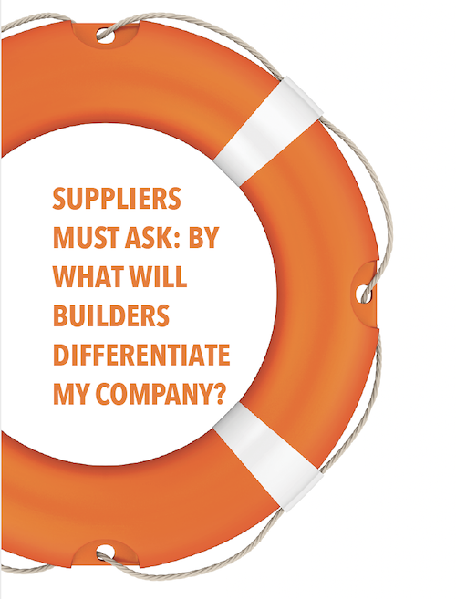 life ring to save the builder/supplier relationship