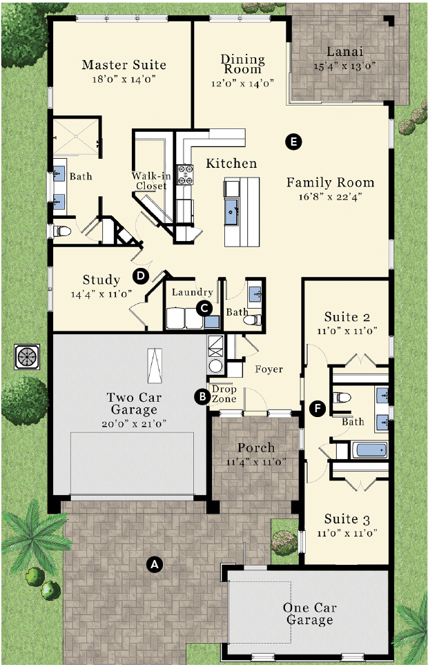 House Review The Evans Group home design, Date Palm, plan
