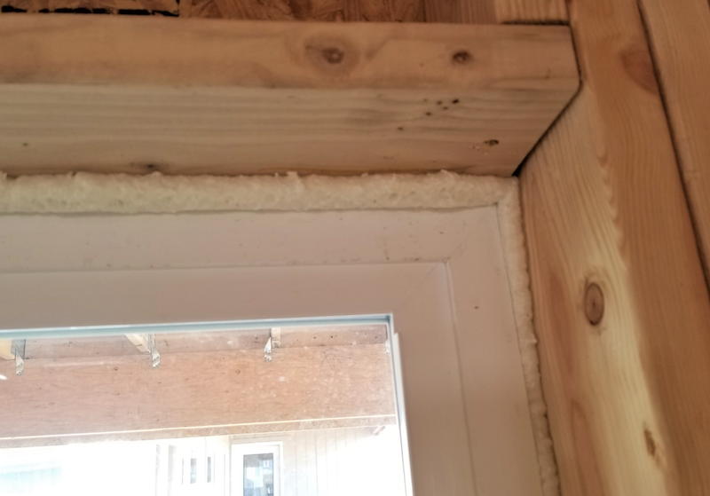 foam around windows and doors to air seal
