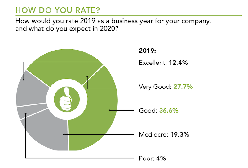 How would you rate 2019 as a business year for your company