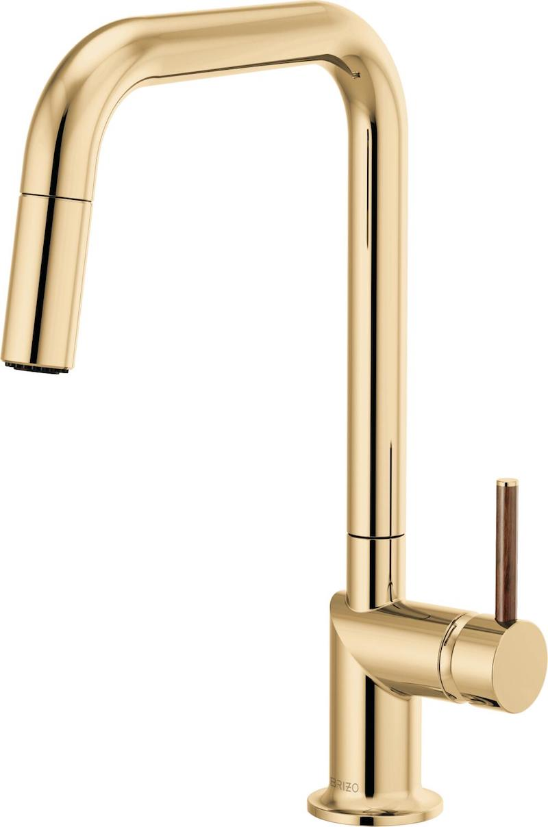 Brizo faucet Odin Collection in gold