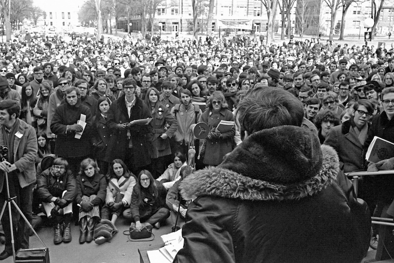 The first Earth Day in 1970 at University of Michigan