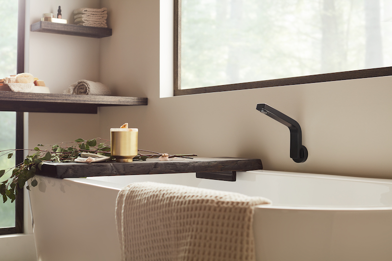 Speak Tub Filler in bath collection by Roger Thomas, the Vector Collection