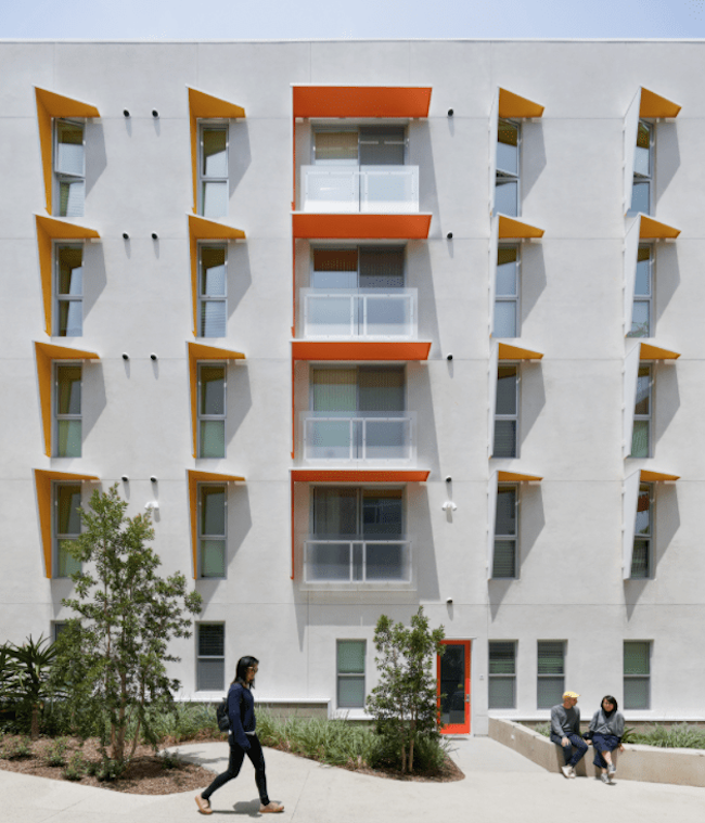The Arroyo affordable housing development by Koning Eizenberg Architecture is LEED Platinum