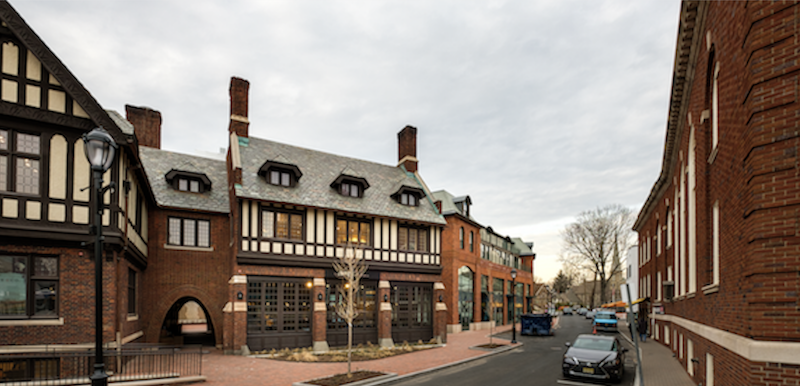 Street view of Bedford Square, Conn., design by Centerbrook Architects