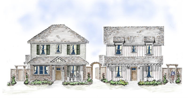 front elevation design for Blue Ridge by Larry Garnett Designs