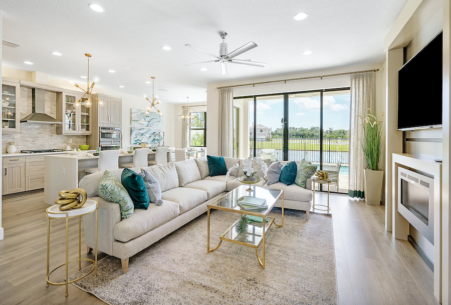 Cabo Plan, Villamar at Toscana Isles, living room