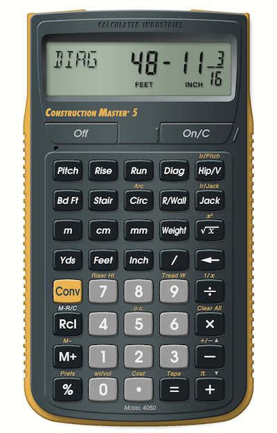Calculated Industries Construction Master 5 calculator