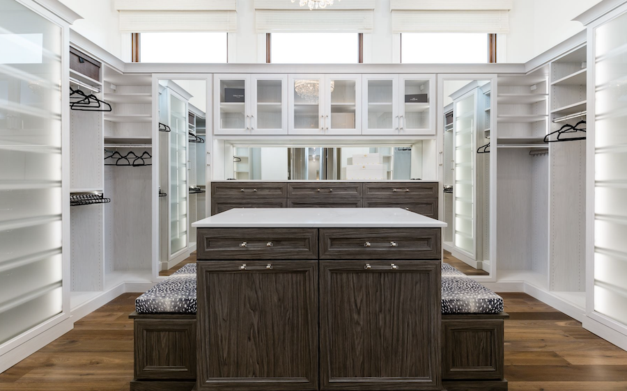 Walk-in-wardrobe at the Carleton, Fort Myers, Fla.