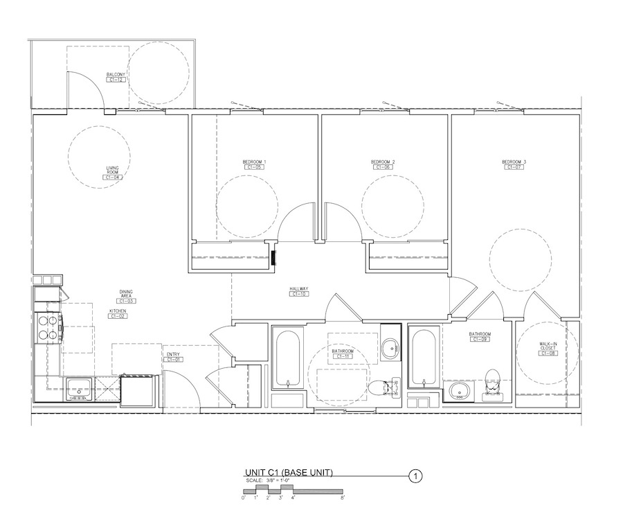 Floor plan for the Carson Aerts Colony, a 2020 BALA winner