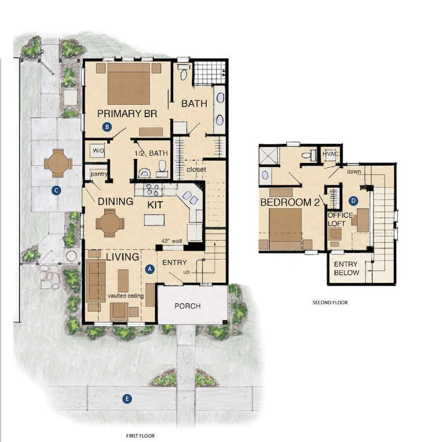 Cottages on the square floorplan