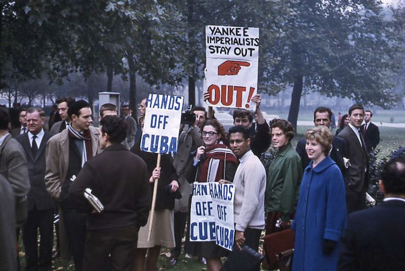 protesters in 1962 in London's Hyde Park during the Cuban Missile Crisis