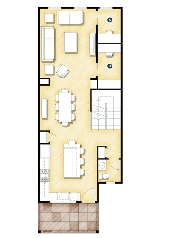 DTJ Design Homeplace Townhome live/work housing design floor plan
