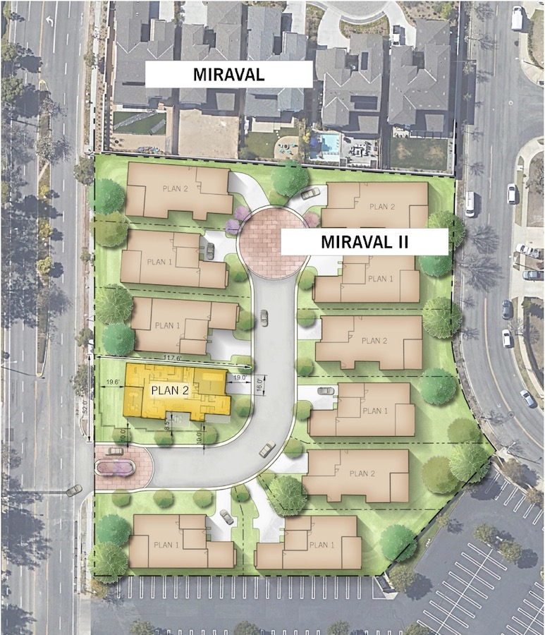 Site plan for the residence 2x at Miraval II designed by Dahlin Group