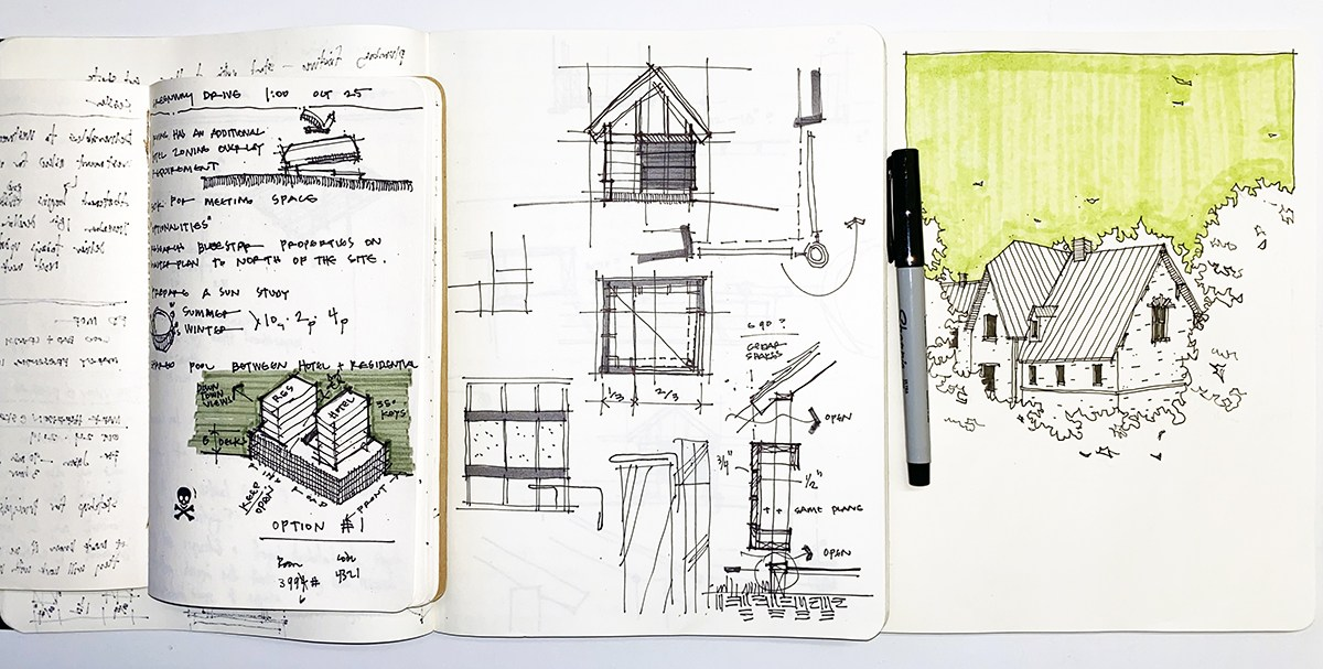 Dallas-Architect-Bob-Borson-Sketchbooks-June-2020-large