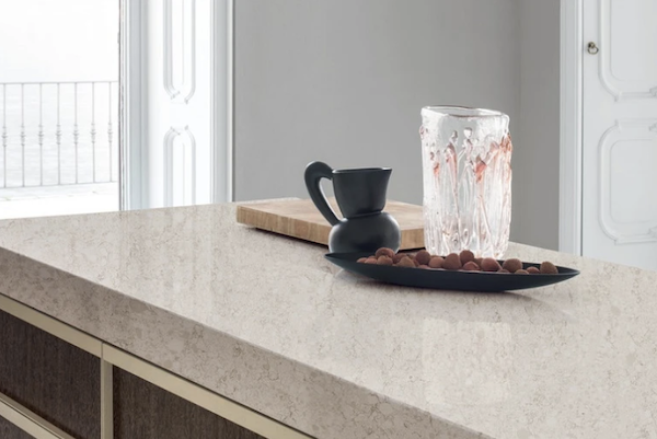 DuPont Surfaces' Zodiaq quartz used for kitchen counter