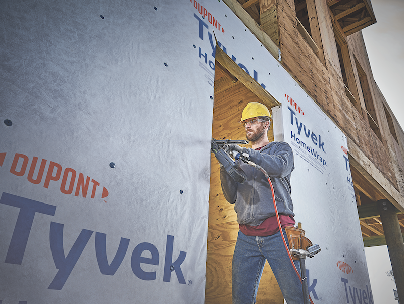 DuPont Tyvek home weatherization system