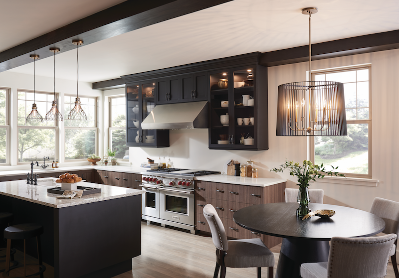 Ferguson showrooms carries Kichler's Linara collection, installed here in the kitchen