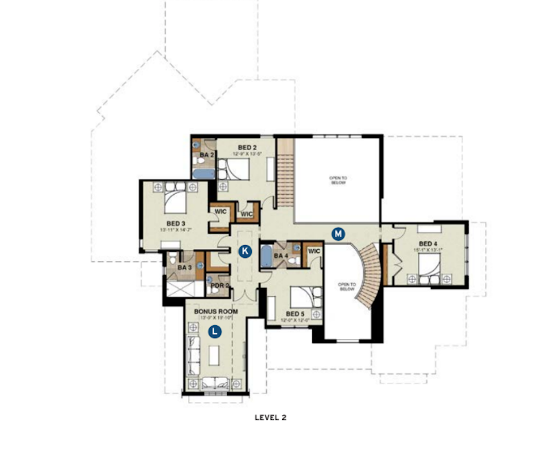 Level 2 plan for The Jeffrey designed by GMD Design Group