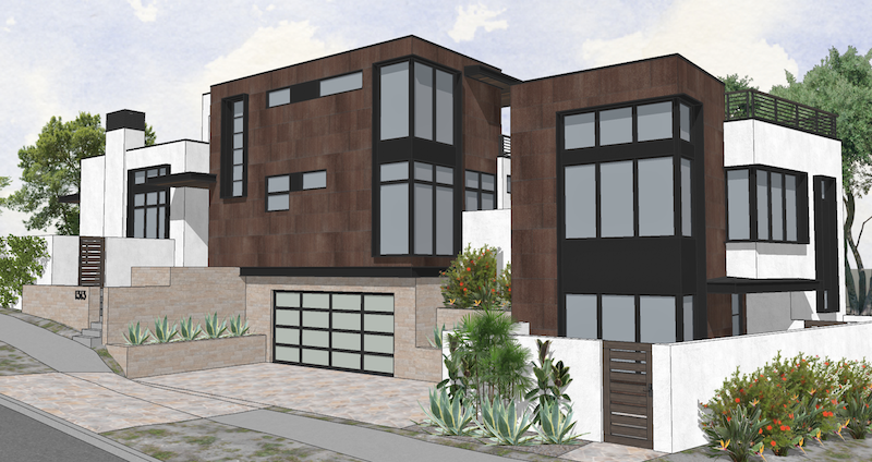 street view of DTJ Design's Gibson Custom home