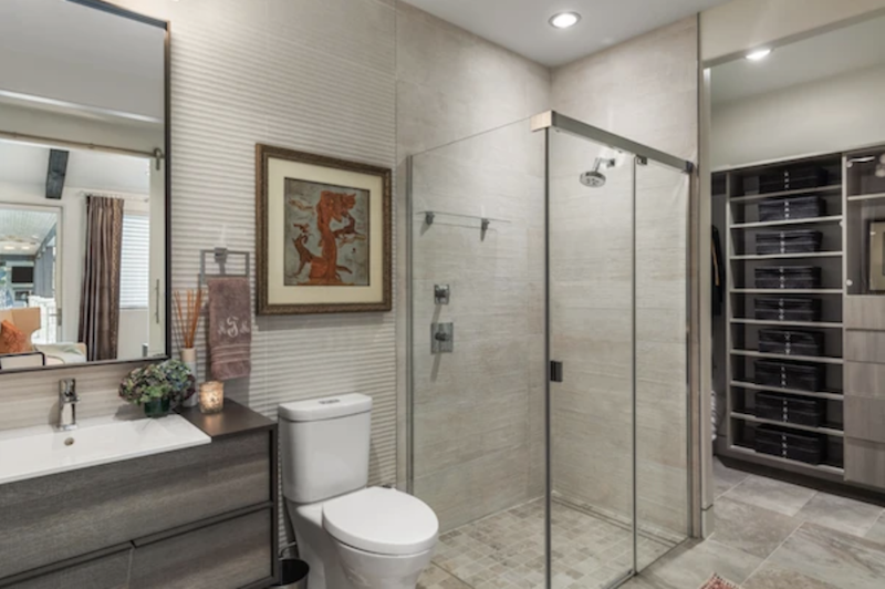 Universal design in the bathroom of the LEED platinum Greenlab show house in Dallas