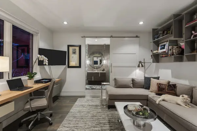 The home office flex space in the LEED Platinum Greenlab show home in Dallas.