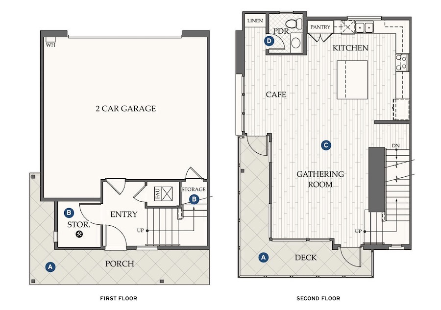 Floor plans for Dahlin Group's design for Evergreen at Rise
