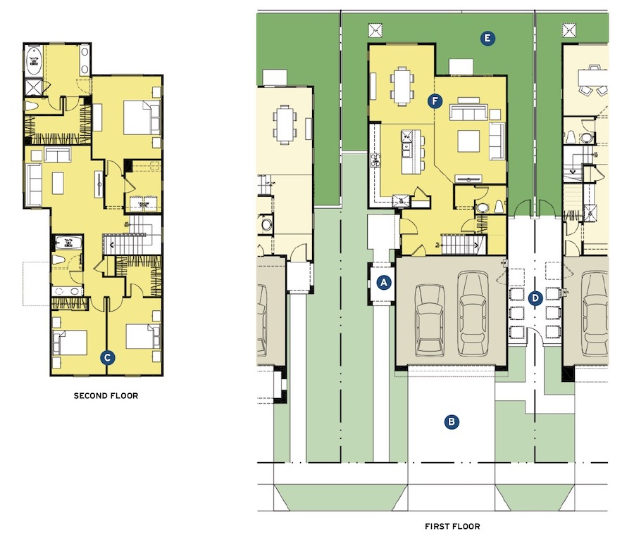 Floor plans for Shady Trails designed by Kevin L. Crook Architect