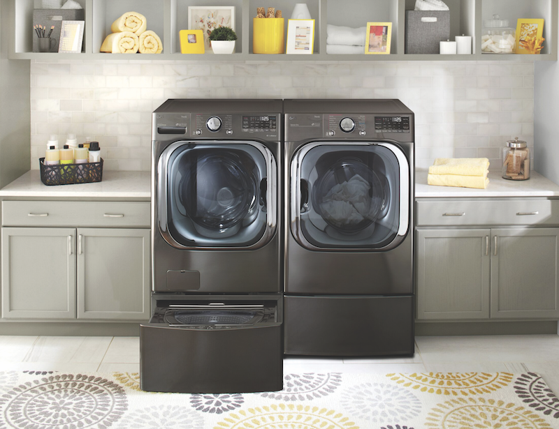 LG front-load washer and dryer