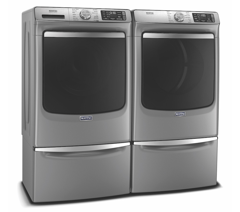 Maytag smart laundry washer-dryer pair