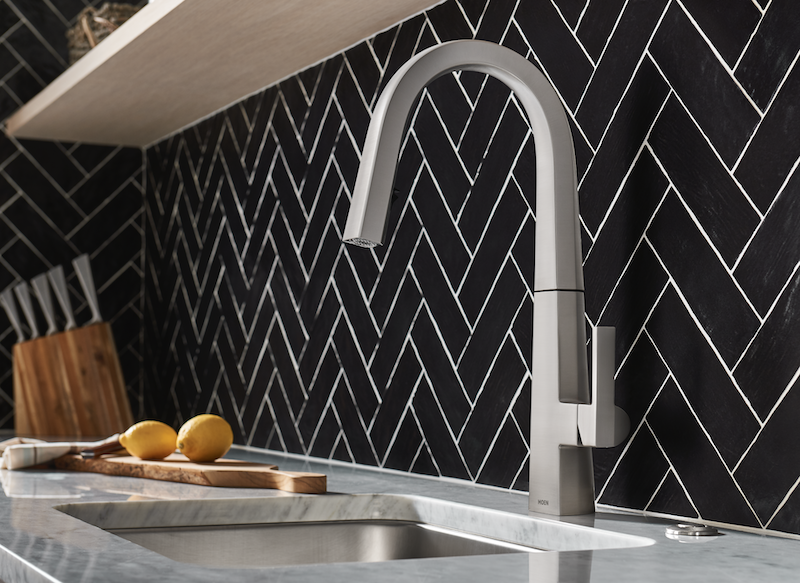 Moen's Nio kitchen faucet in Spot Resist Stainless