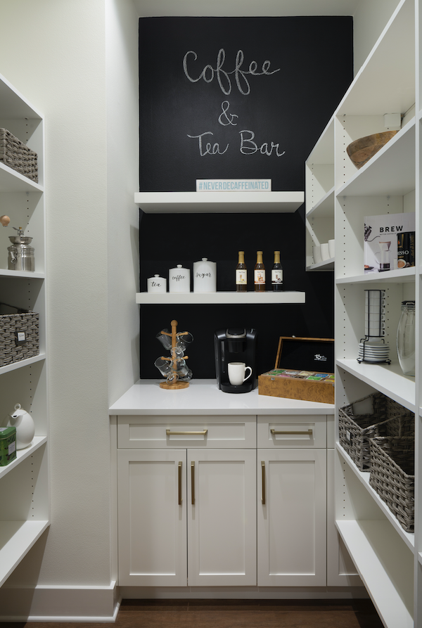 The Mokra Model home's coffee bar