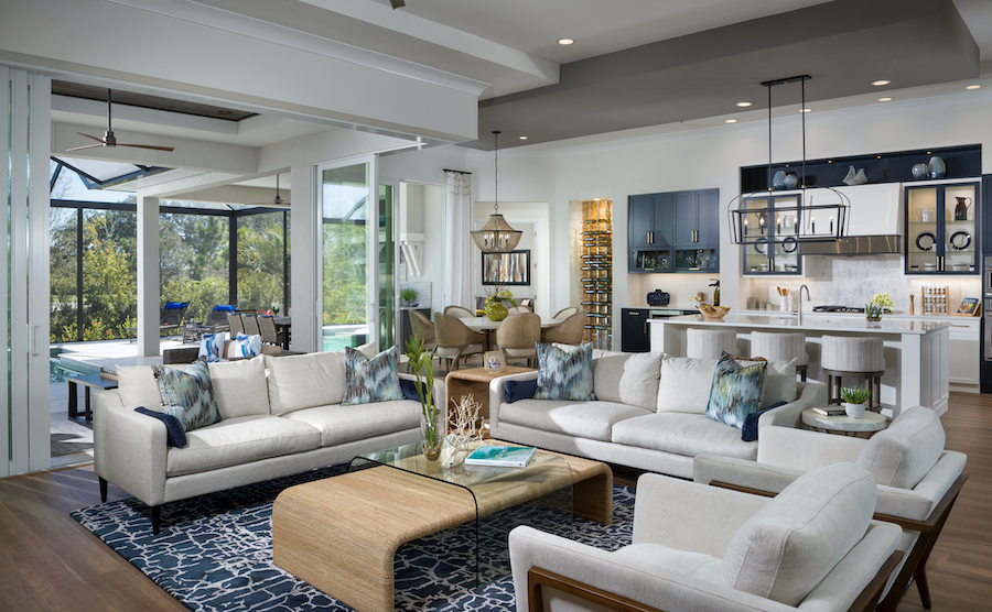 The Mokra Model home's living room