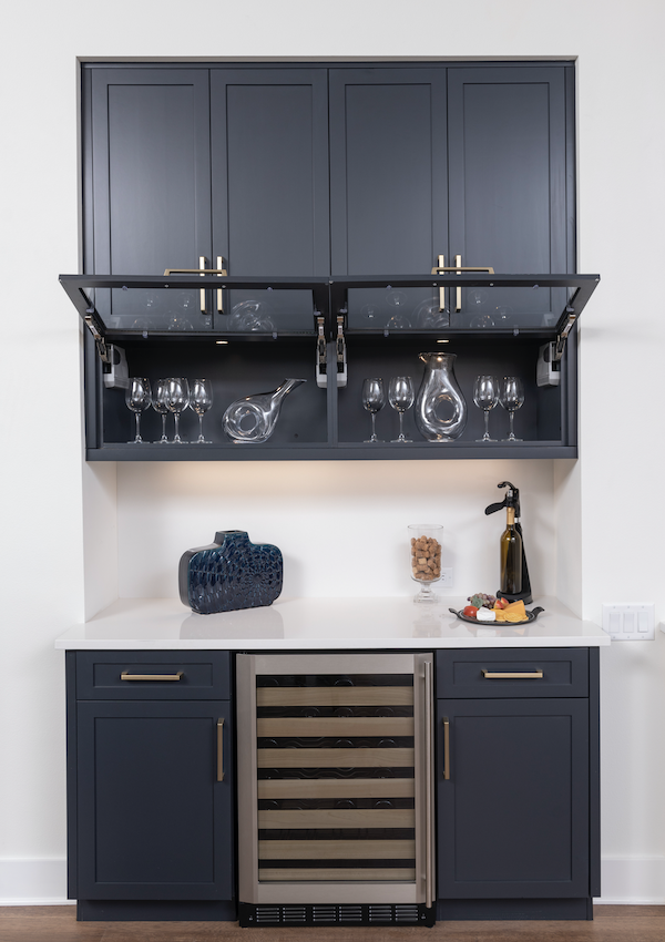 The Mokra Model home's wet bar