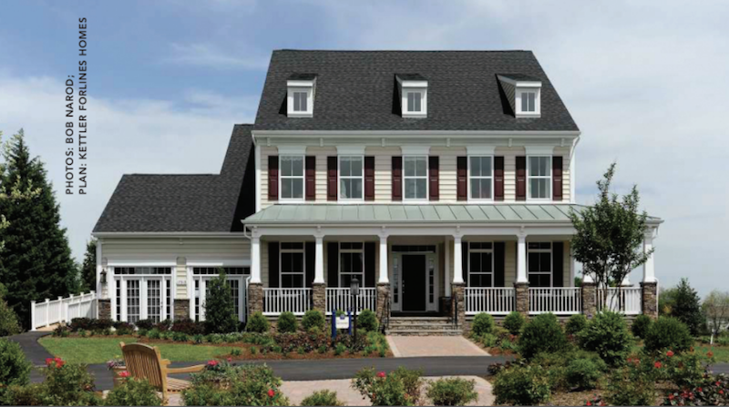 front elevation of the Montgomery model at Brightwell Crossing
