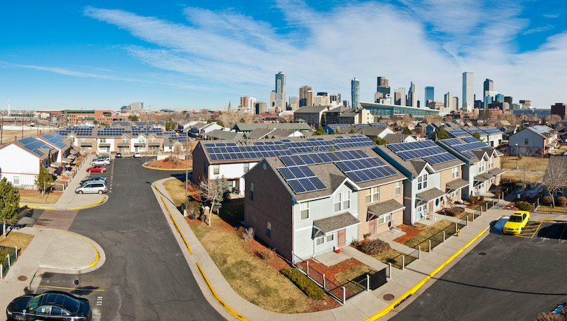 North Lincoln solar homes in Denver