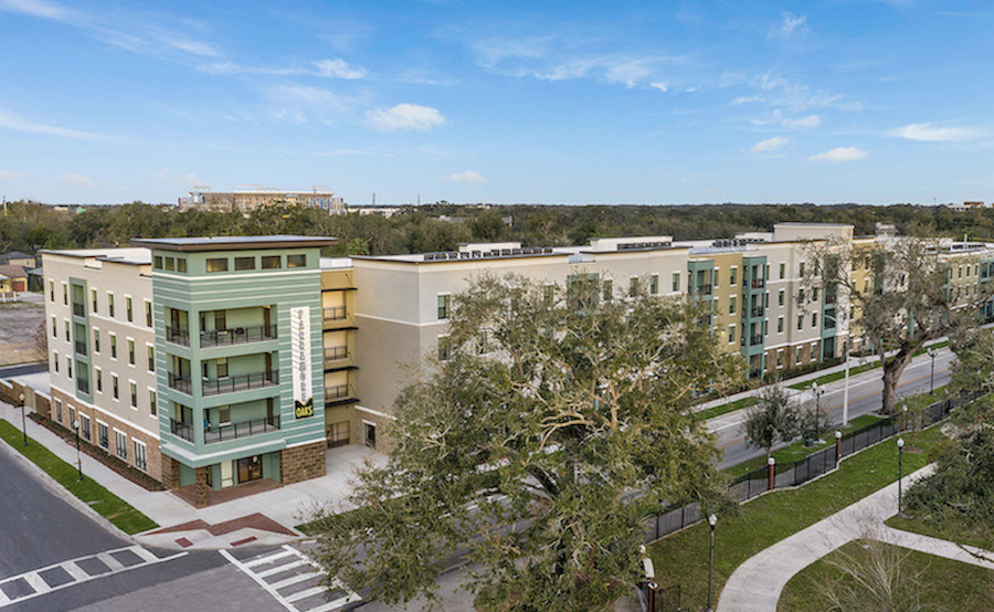Exterior of the multifamily development Parramore Oaks, in Orlando