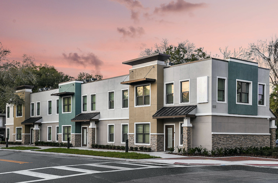 Parramore Oaks multifamily homes exterior corner, Orlando