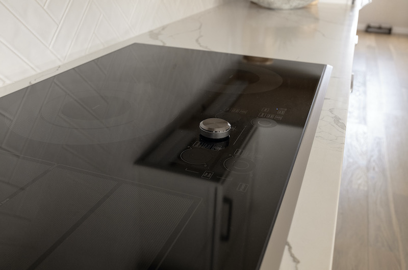 Samsung 36-inch induction cooktop installed in the Ultimate Z.E.N. Home in Denver