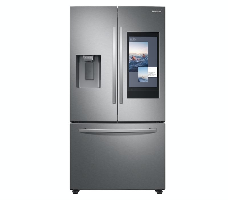 Samsung Family Hub refrigerator with screen