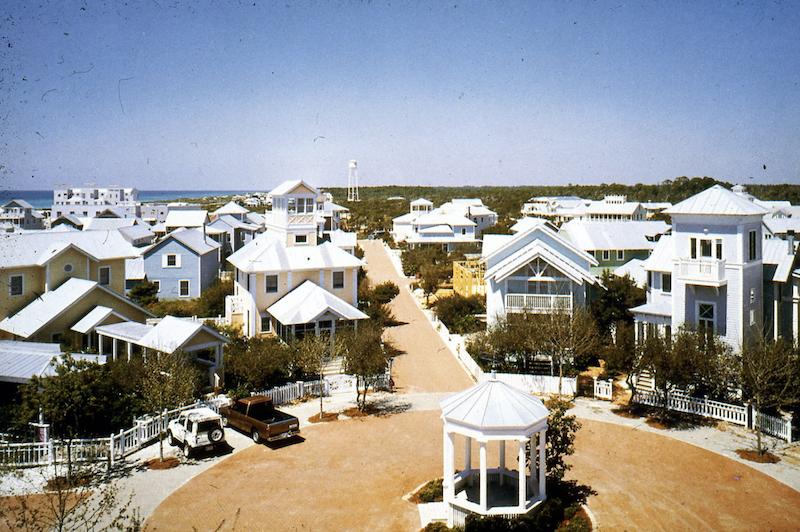 street in Seaside, Florida, community designed using principles of New Urbanism