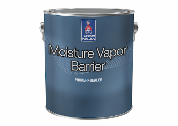 can of Sherwin-Williams moisture vapor barrier interior latex paint