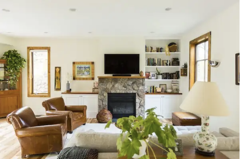 The living room of the LEED Gold Sikes Residence designed by Sol Design + Consulting