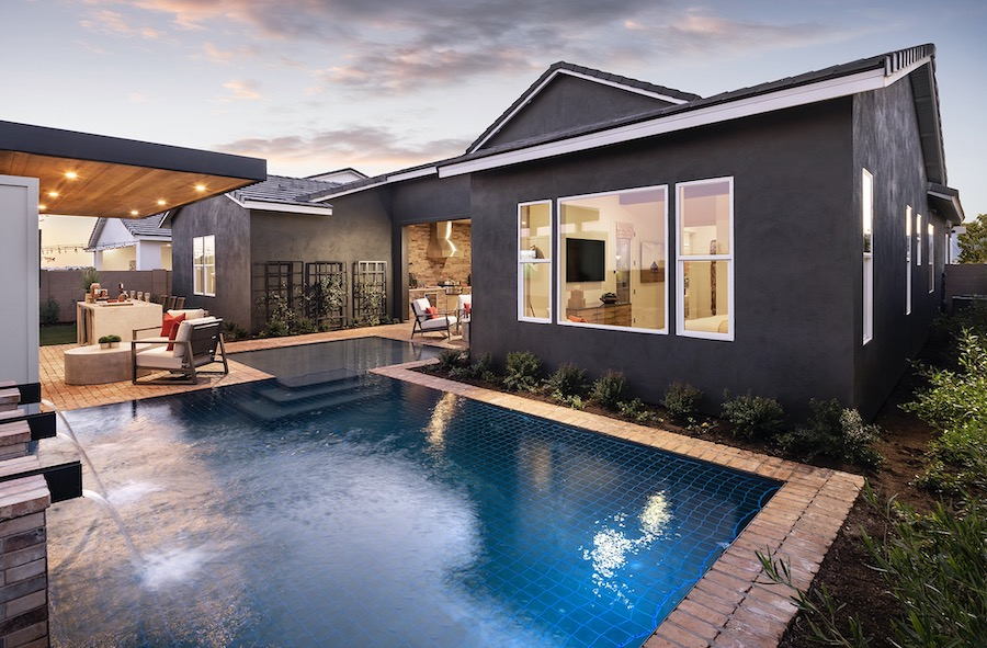 Pool and outdoor living space at Sterling Grove at St. Helena, a 2020 BALA winner
