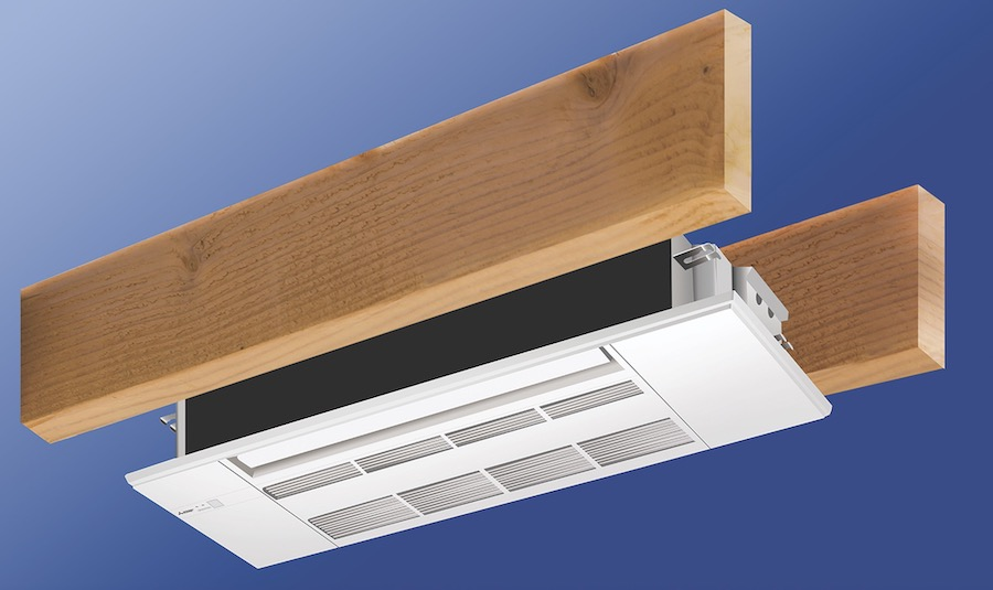 The New American Home 2021 uses Mitsubishi's EZ Fit ceiling cassettes for HVAC