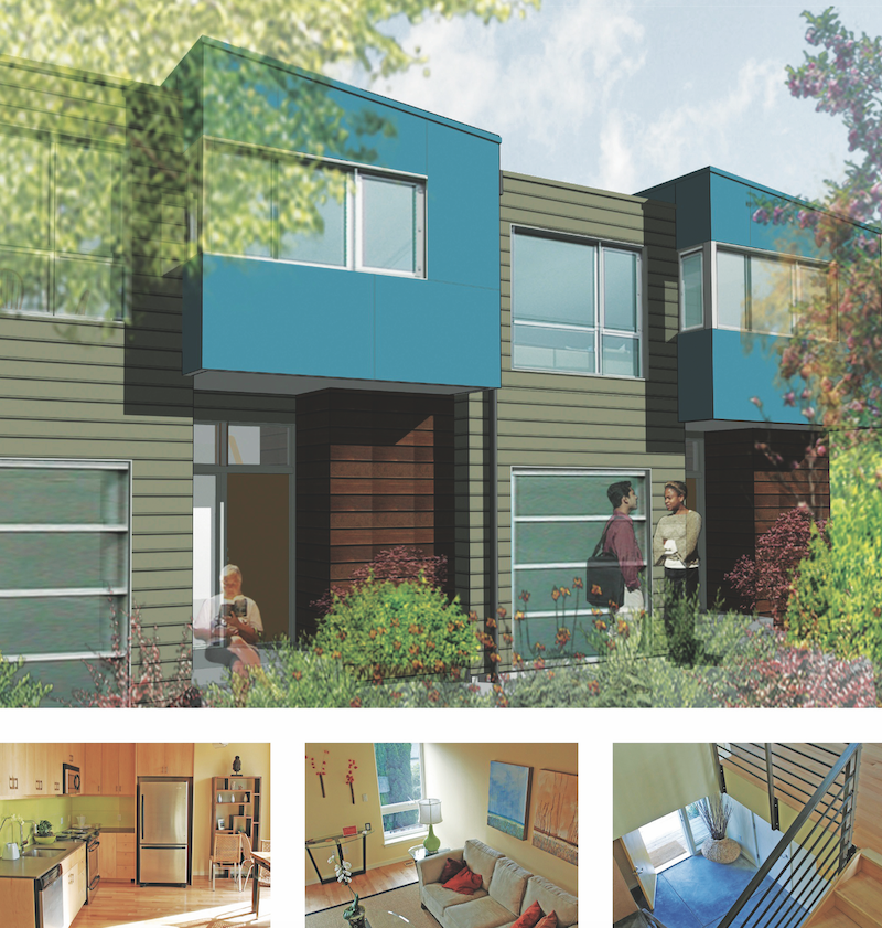 The Lancaster Net Zero Energy live/work townhomes