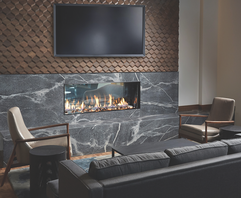 Travis Industries DaVinci Collection linear fireplace